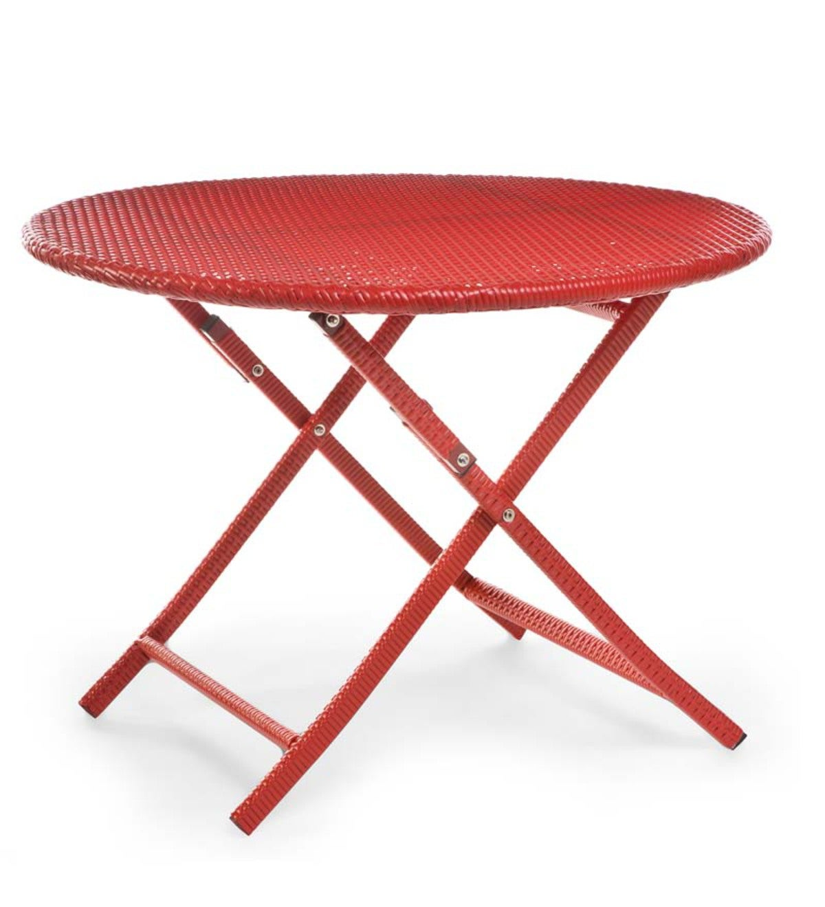 "Folding Dining Table, 40""dia. - Red"