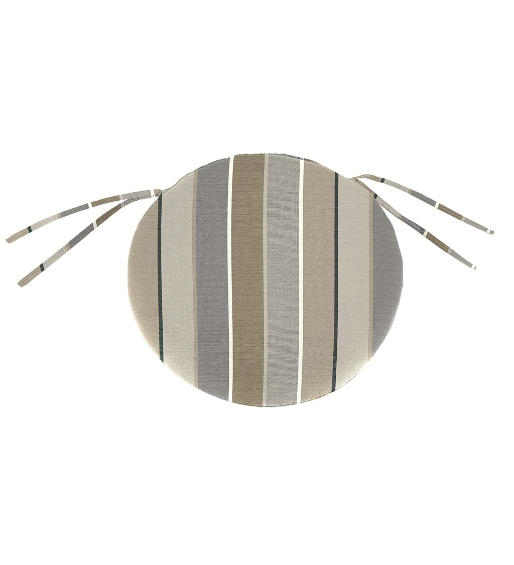 "Sunbrella Classic Round Chair Cushion With Ties, 16"" x 2"""
