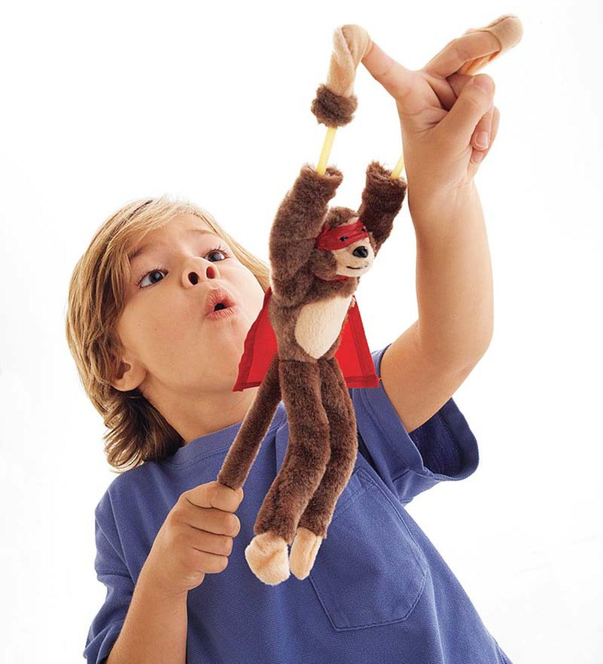 Flingshot Flying Monkey Plush Toys Set Of 3 Plowhearth