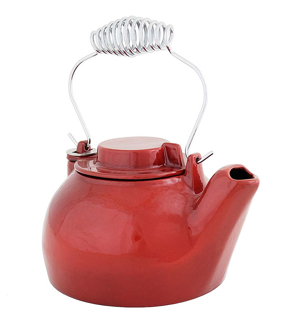 Cast Iron Steamer Kettle With Porcelain Enamel Finish swatch image