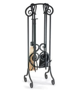 Steel Antique Scroll Fireplace Tool Set