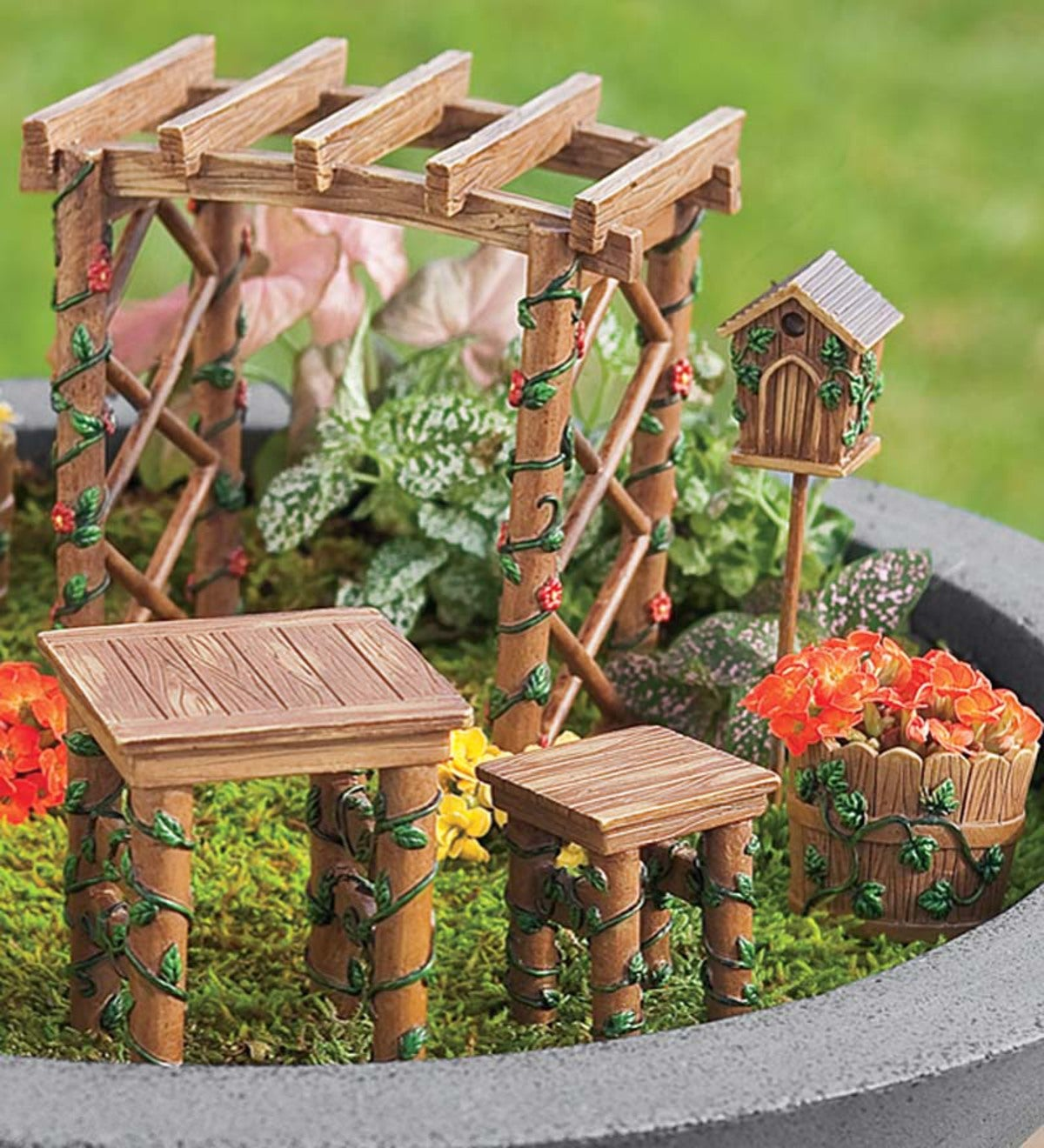 Wooden Fairy Garden Picket Stake Plaque Sign