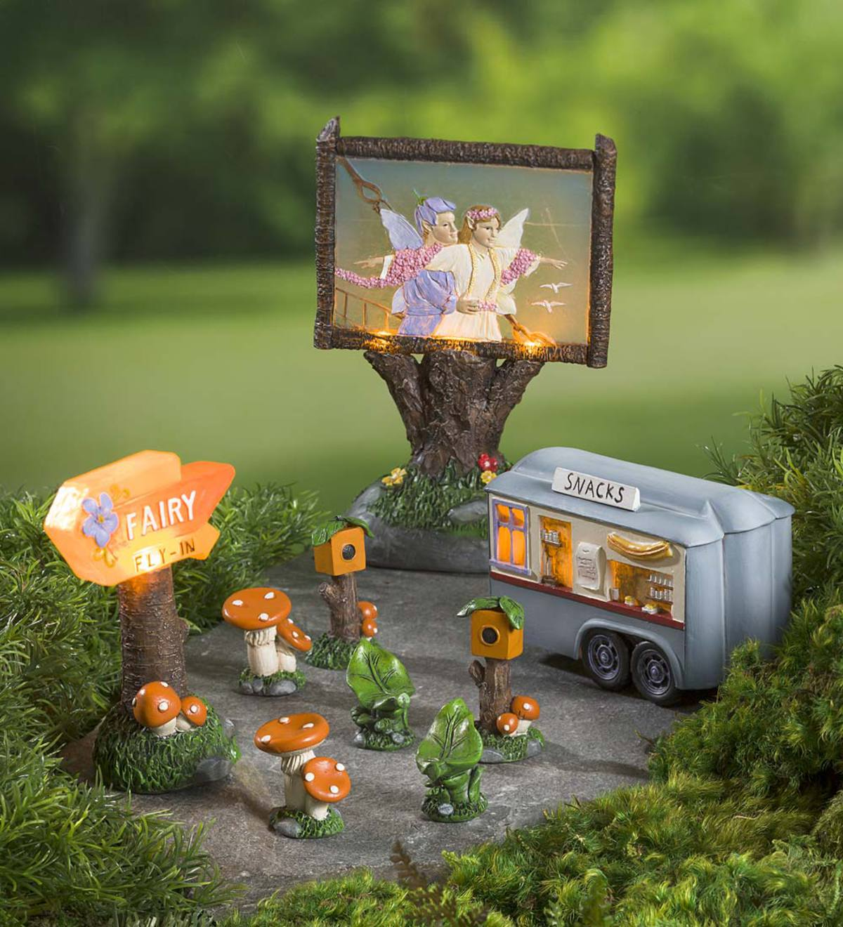 Miniature Fairy Garden Fly In Drive In Theater Set