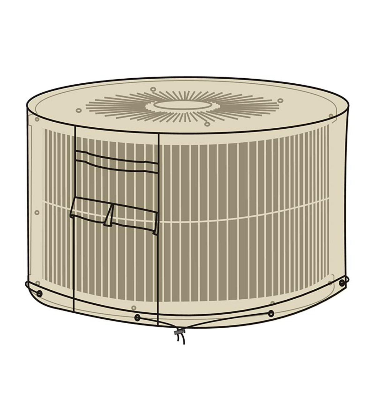 Deluxe Round AC Unit Cover