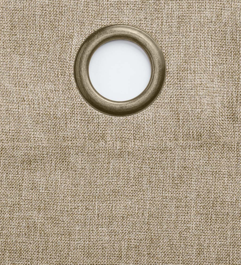"Madison Double-Blackout Grommet Patio Panel with Wand, 106""W x 84""L swatch image"