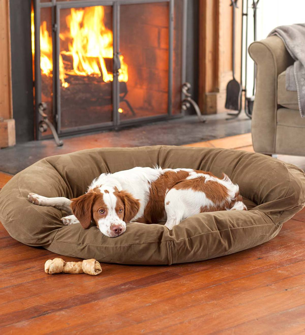 Microfiber Bolster Pet Bed