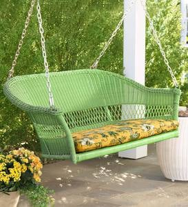 Sale! Easy Care Resin Wicker Swing
