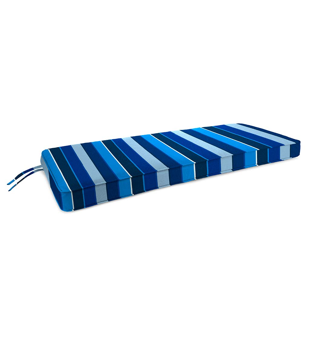 "Deluxe Sunbrella Swing/Bench Cushion with ties 48"" x 19"" x 3"" swatch image"