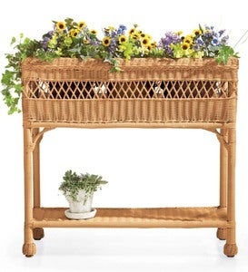 Easy Care Resin Wicker Rectangular Planter