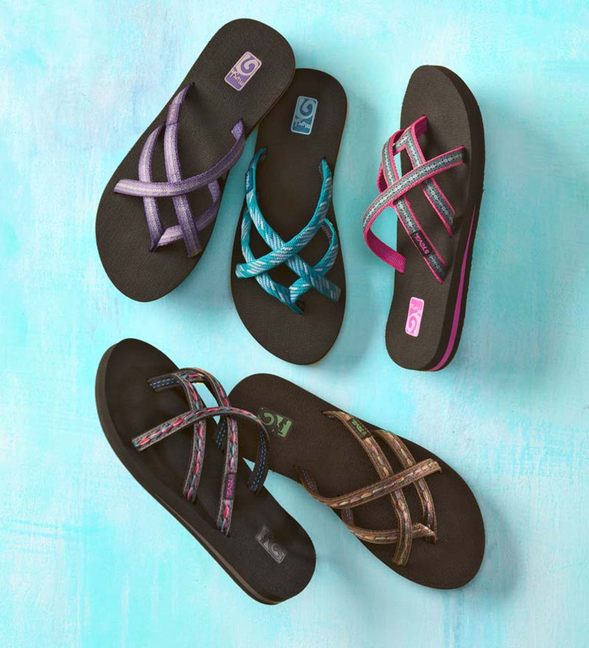 8223e4c6aa17 Teva Olowahu Flip-Flops For Women