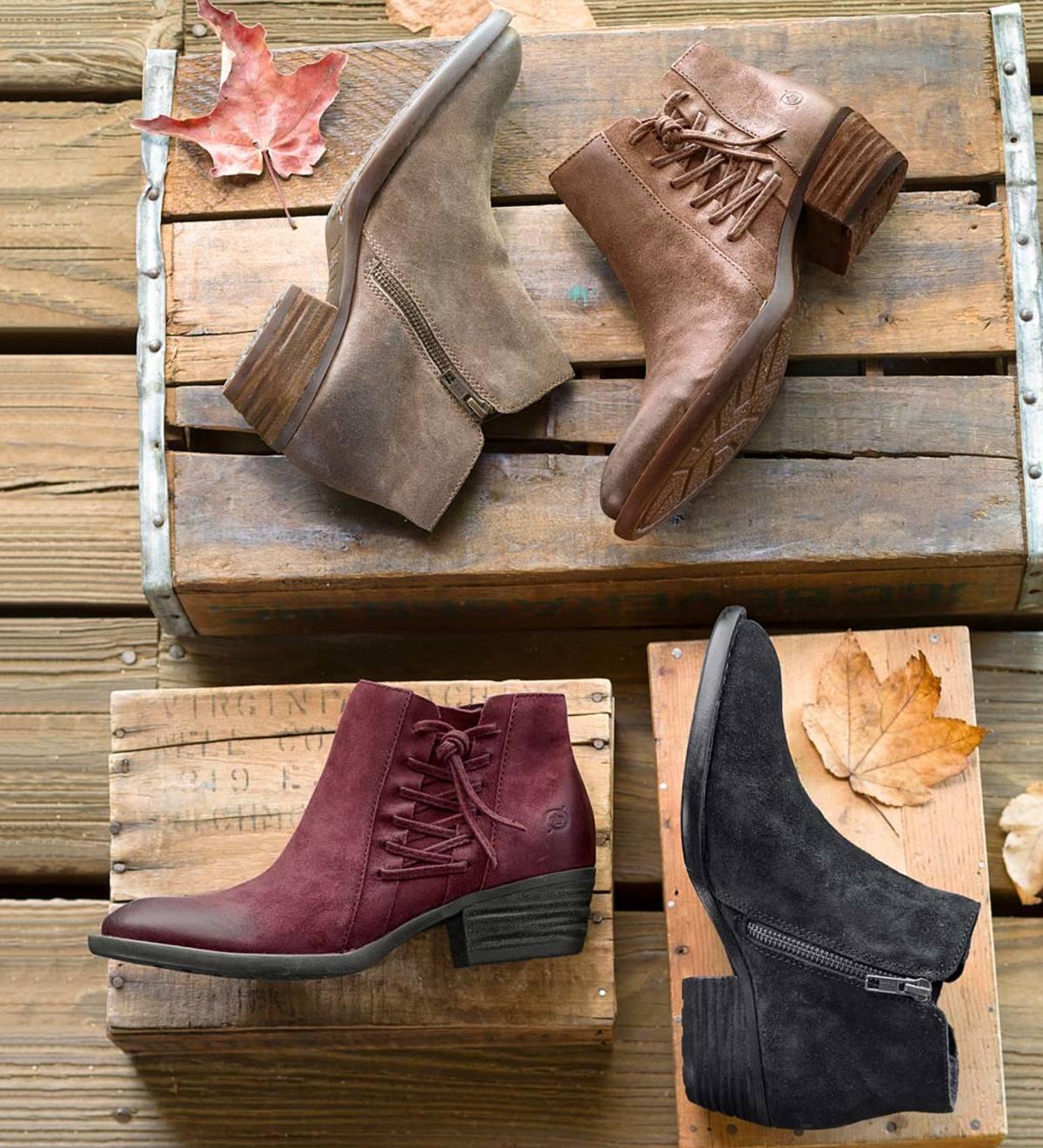 Born Bessie Ankle Boot - Black - Size 6