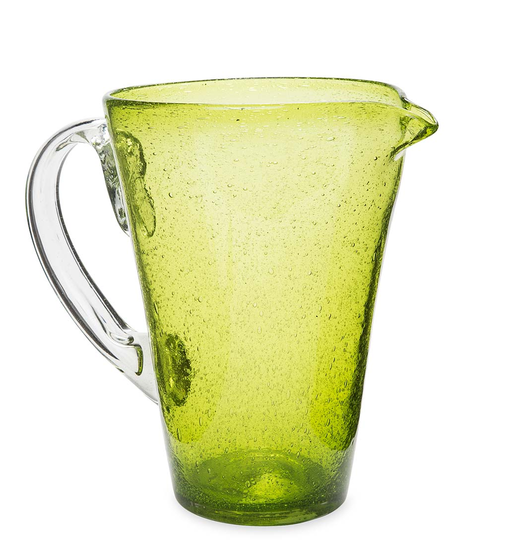Bubble Recycled Glass Pitcher