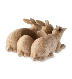 Bunny Triplets Planter
