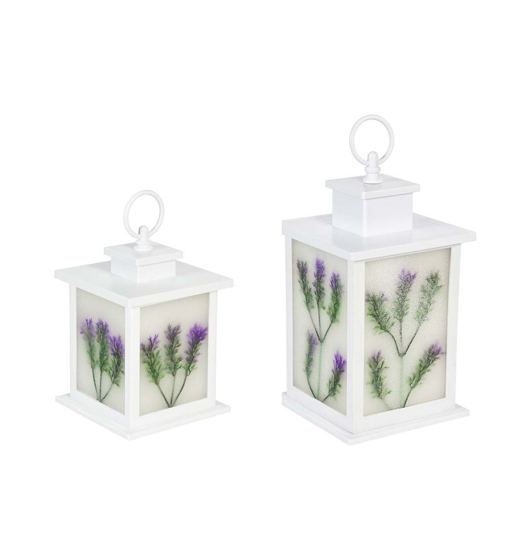 LED Floral Lantern, Set of 2 swatch image
