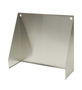 "Stainless Steel Fireplace Reflector, 27""W"