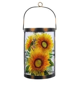 Harvest Sunflowers Solar Glass Lantern