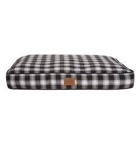 Ombre Plaid Pet Napper Pet Bed, Large - Charcoal