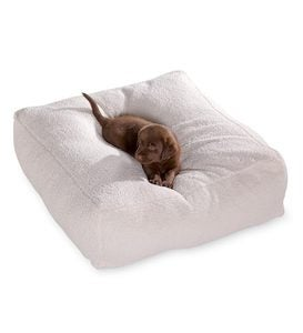 Large Sherpa Pouf Dog Bed - Natural