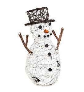 Lighted Indoor/Outdoor Snowman Vine Statuary