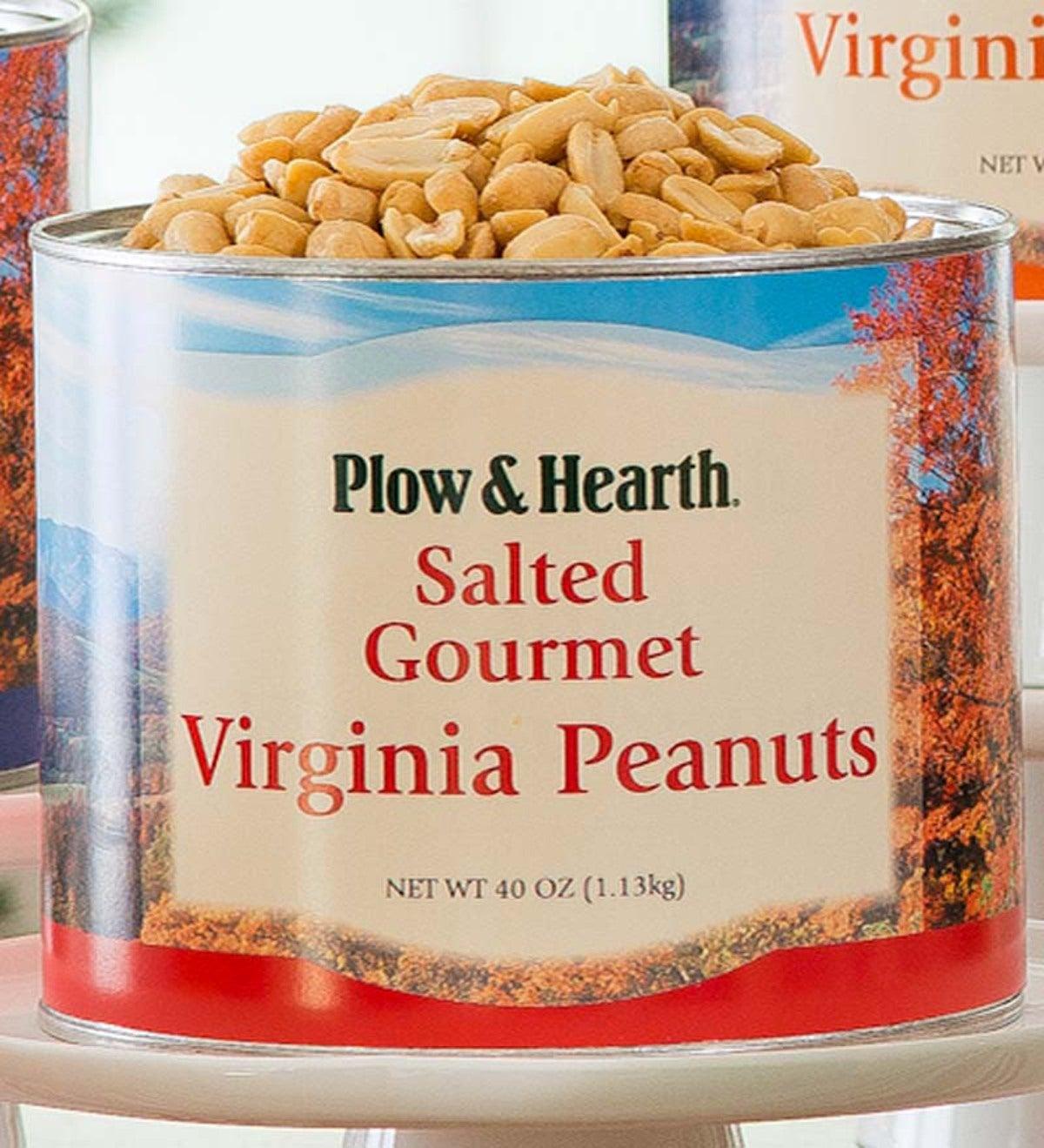 Extra Large Virginia Peanuts 40 Oz Tin Plowhearth