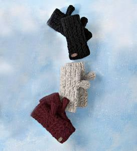 Turtle Fur Wool Mika Fingerless Mittens