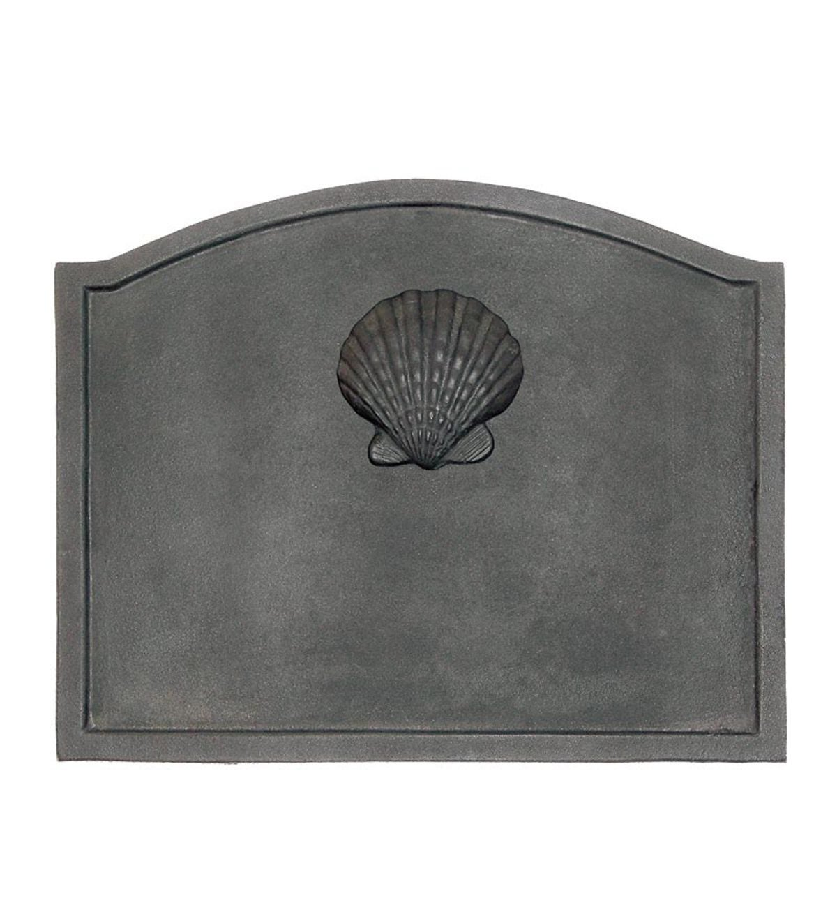 Small Shell Cast Iron Fireplace Fireback