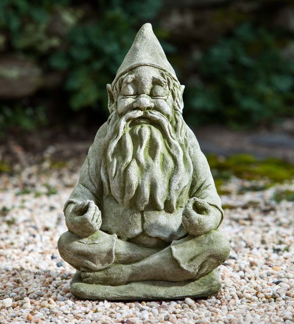 USA-Made Handcrafted Stone Big Fred Gnome Garden Statue