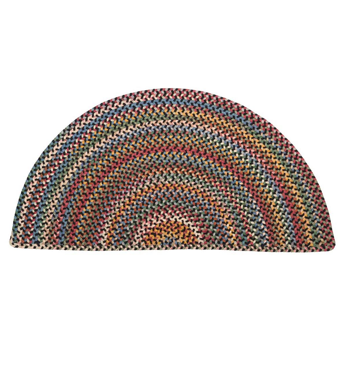 Blue Ridge Half Round Wool Braided Rug 2 X 4 Braided