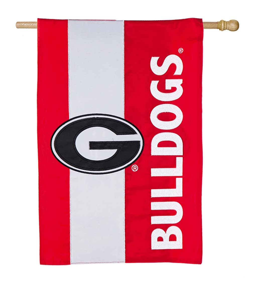 Double-Sided Embellished College Team Pride Applique House Flag