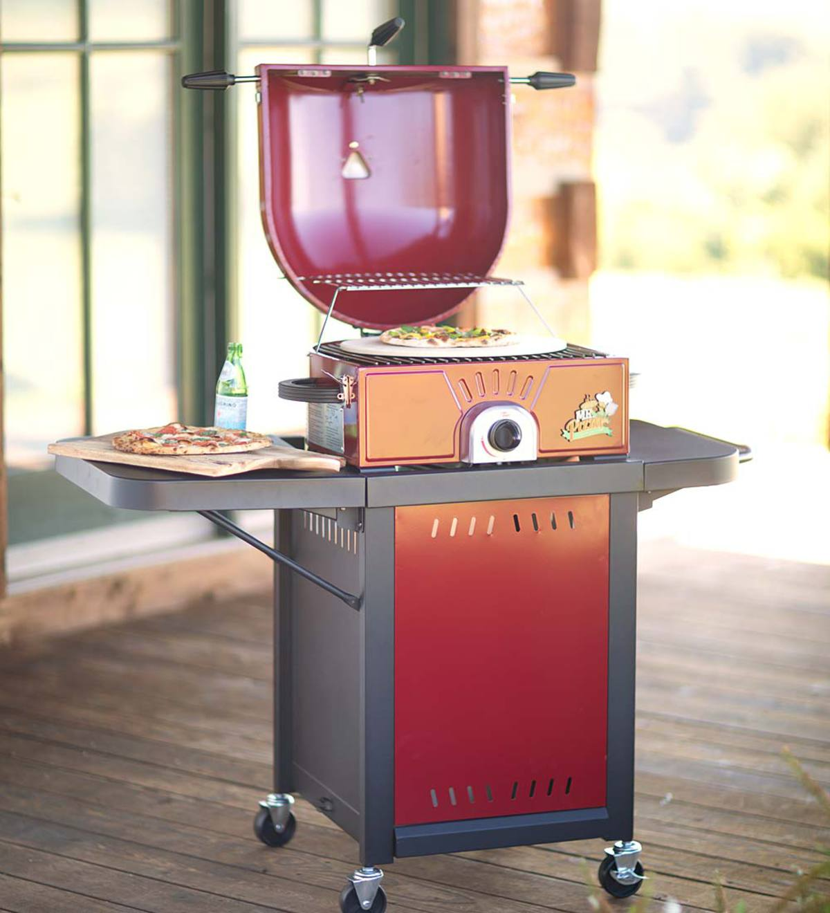 Novelty Pizza Oven/Grill Cart