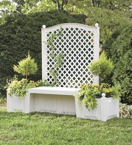 Self-Watering Bench Trellis Planter