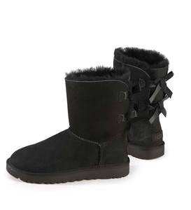 UGG Women's Bailey Bow II Boot - Black - Size 7