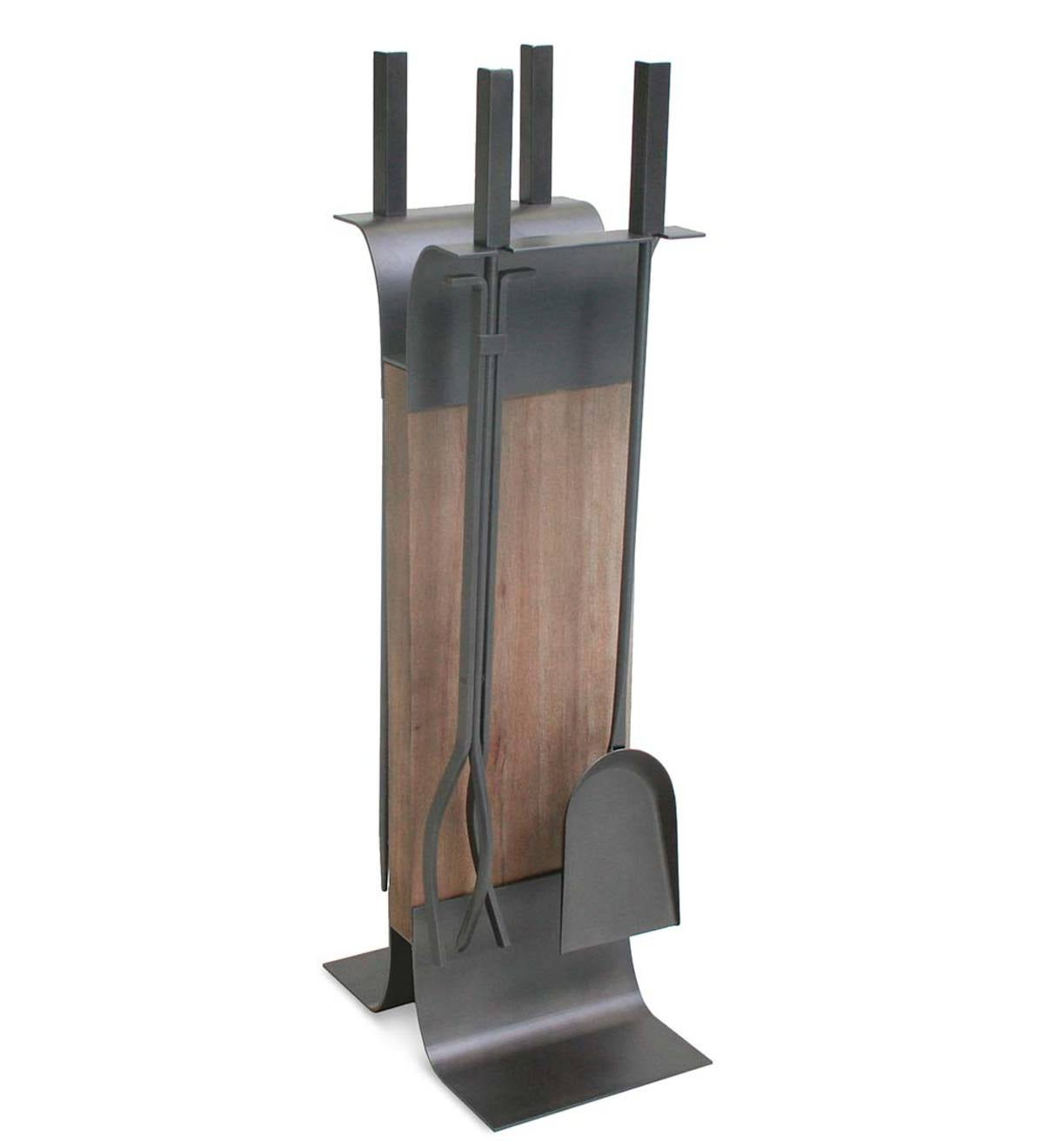 Stanton 4-Pc. Fireplace Tool Set with Wood Stand