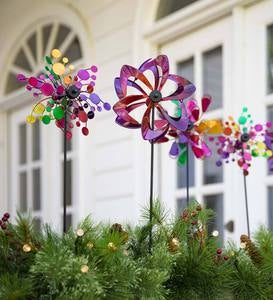 Mini Pinwheel Garden Stakes Set Of 3