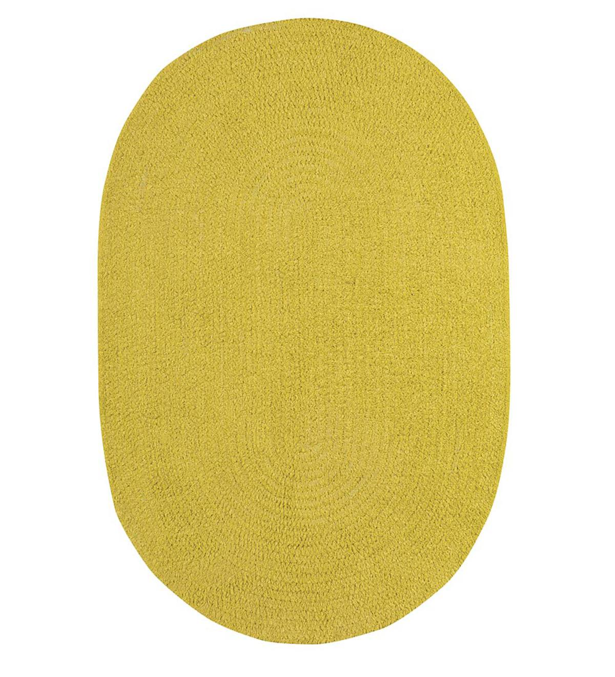 "Chenille Oval Braided Runner, 24""x 8' - Maize"