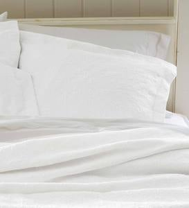 Full Marie Matelasse Stonewashed Coverlet - Cream