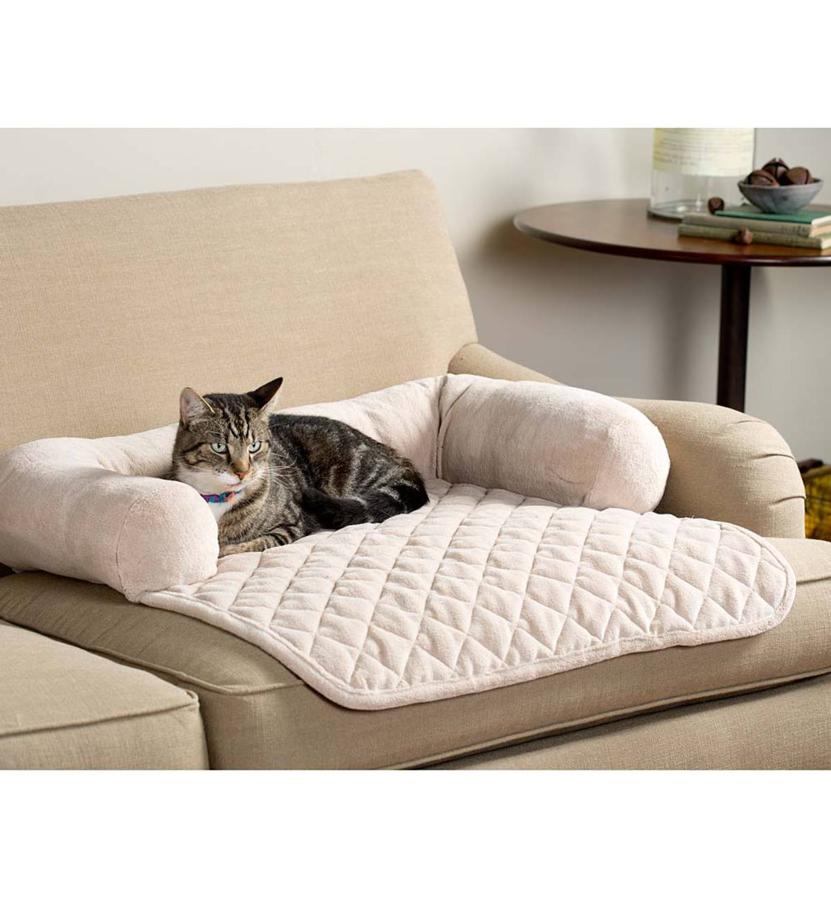 Sofa Bolster Pillow Furniture Cover For Pets Chocolate