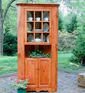 Lexington Corner Cupboard, Made in USA - Avocado