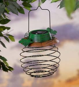 Hanging Solar Lantern Decoration, Pumpkin