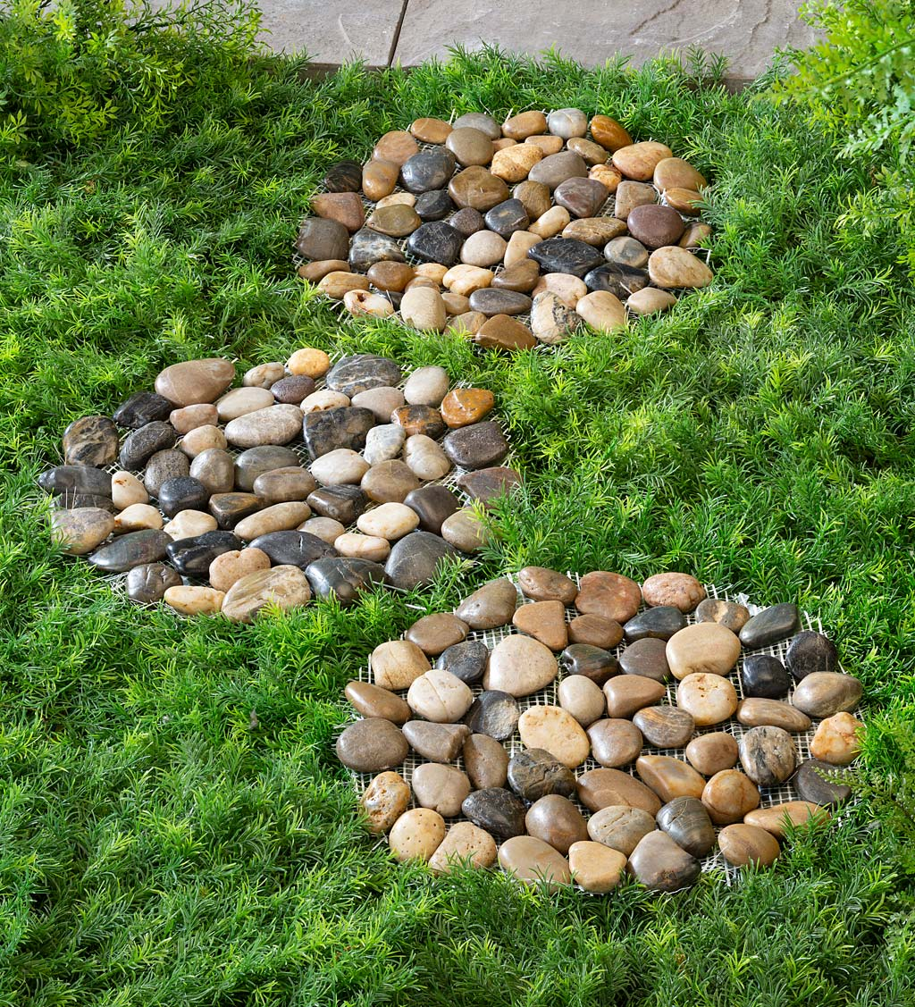 3 x Decorative Stone Owl Garden Rocks Pebbles Peace Welcome Love Peace Stones