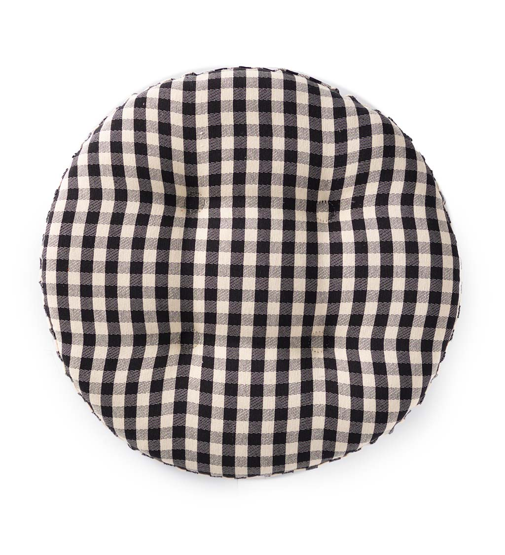 Non-Slip Gingham Bar Stool Pad swatch image