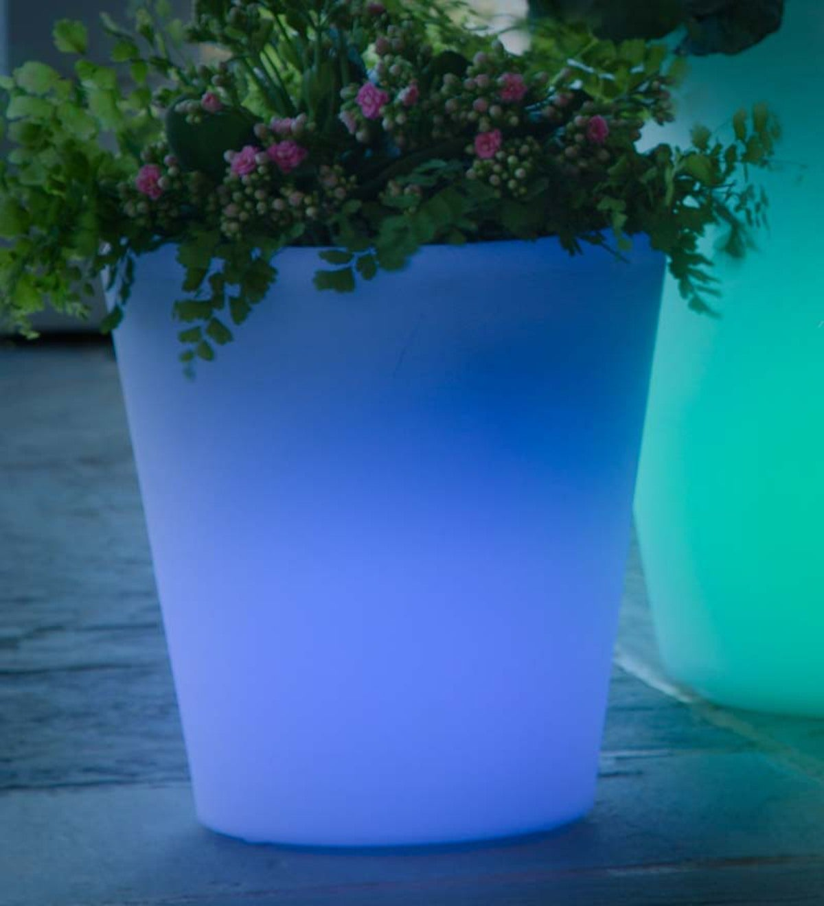 Large Color Changing Solar Planter Plowhearth