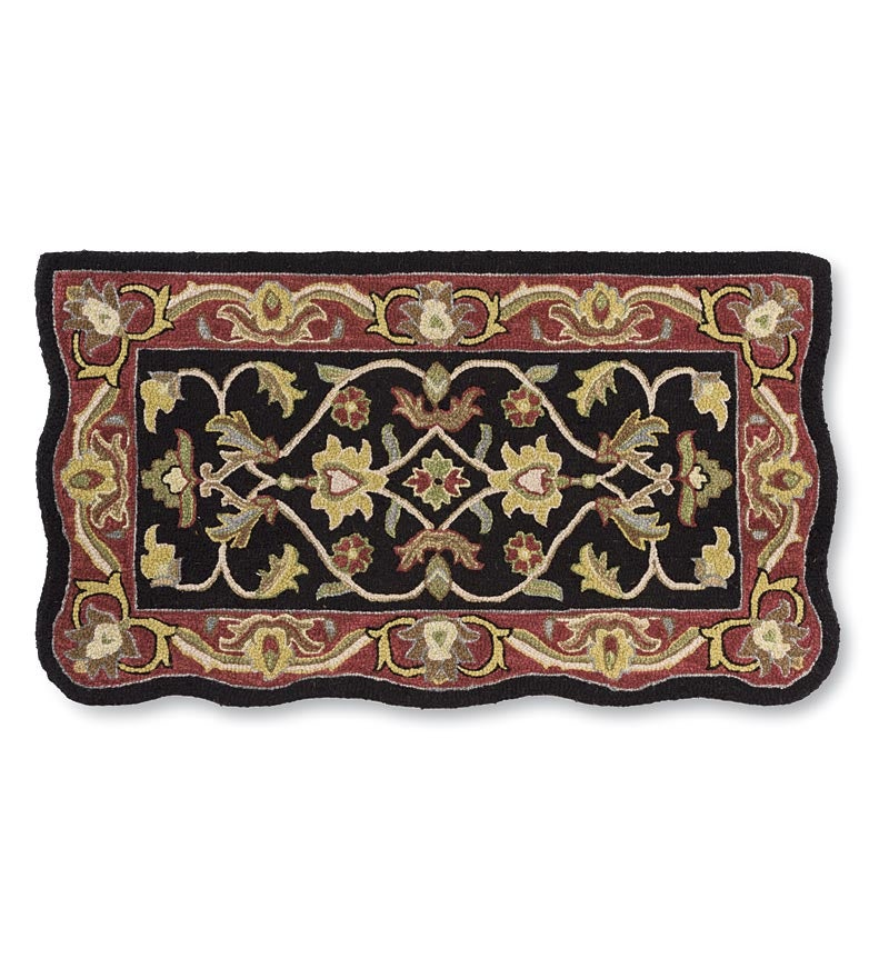 Hand-Tufted Fire Resistant Scalloped Wool McLean Hearth Rug