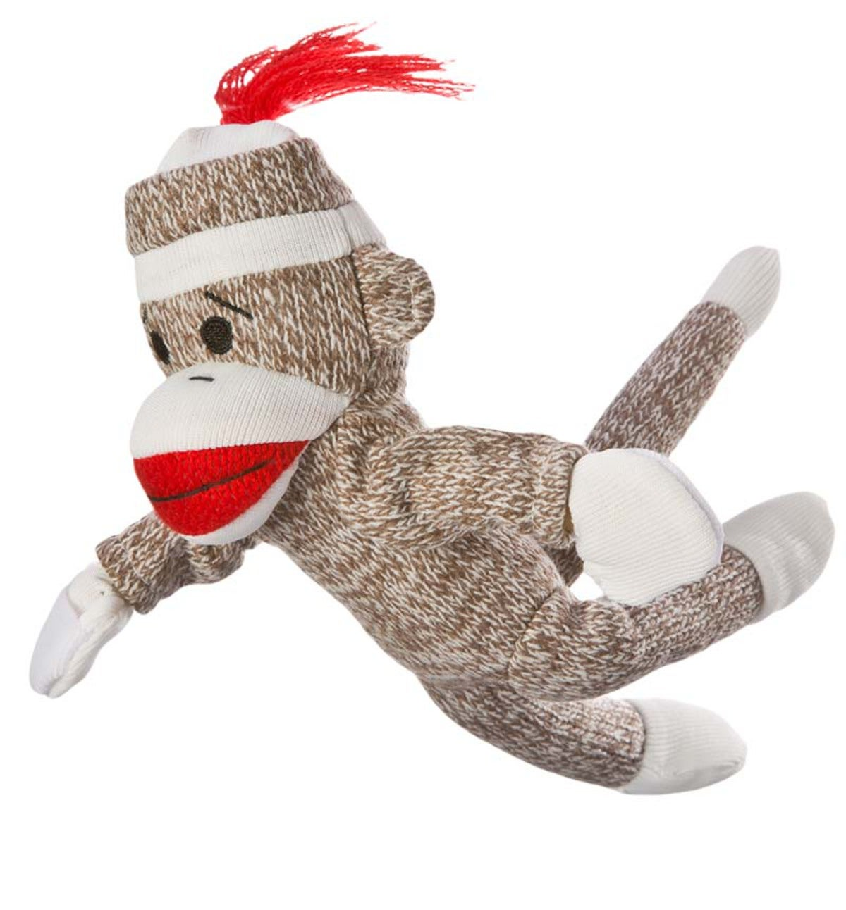 Sock Monkey Flying Screaming Slingshot Toy | PlowHearth