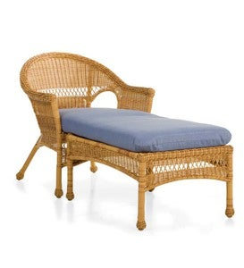 Sale! Tan Easy Care Resin Wicker Chaise