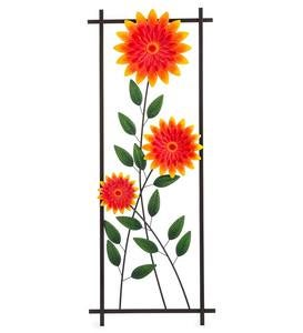 Chrysanthemum Garden Metal Trellis/Wall Art