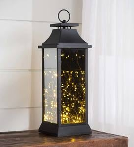 Indoor/Outdoor Firefly Lantern with Twinkling LED Lights