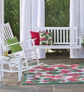 Indoor/Outdoor Geranium Floral Rug