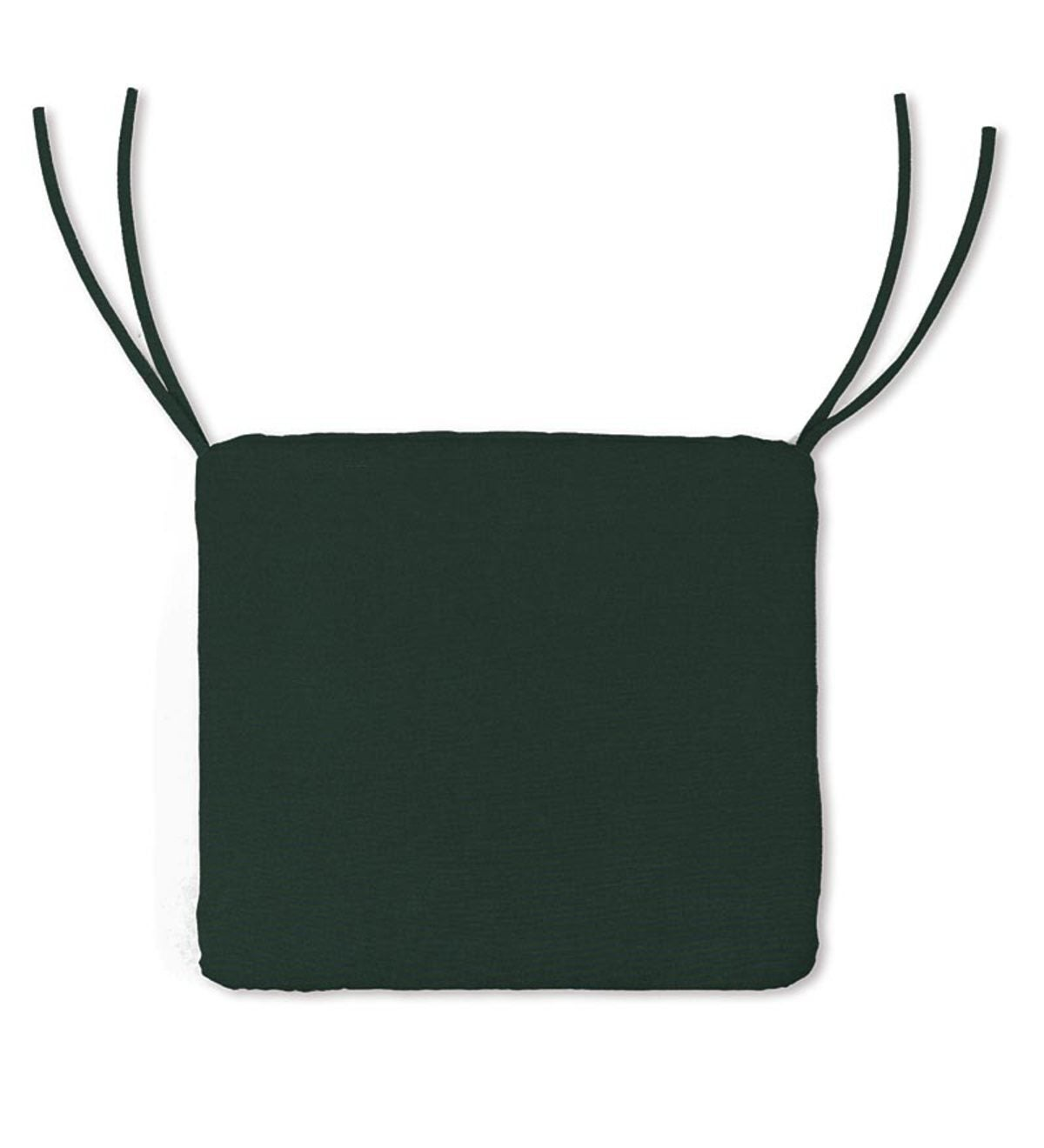 "Polyester Classic Chair Cushions with Ties, 20¾""x 20""x 3"" - Forest Green"
