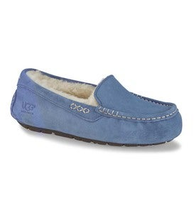 UGG Ansley Moccasin Slippers - Dolphin Blue - Size 5